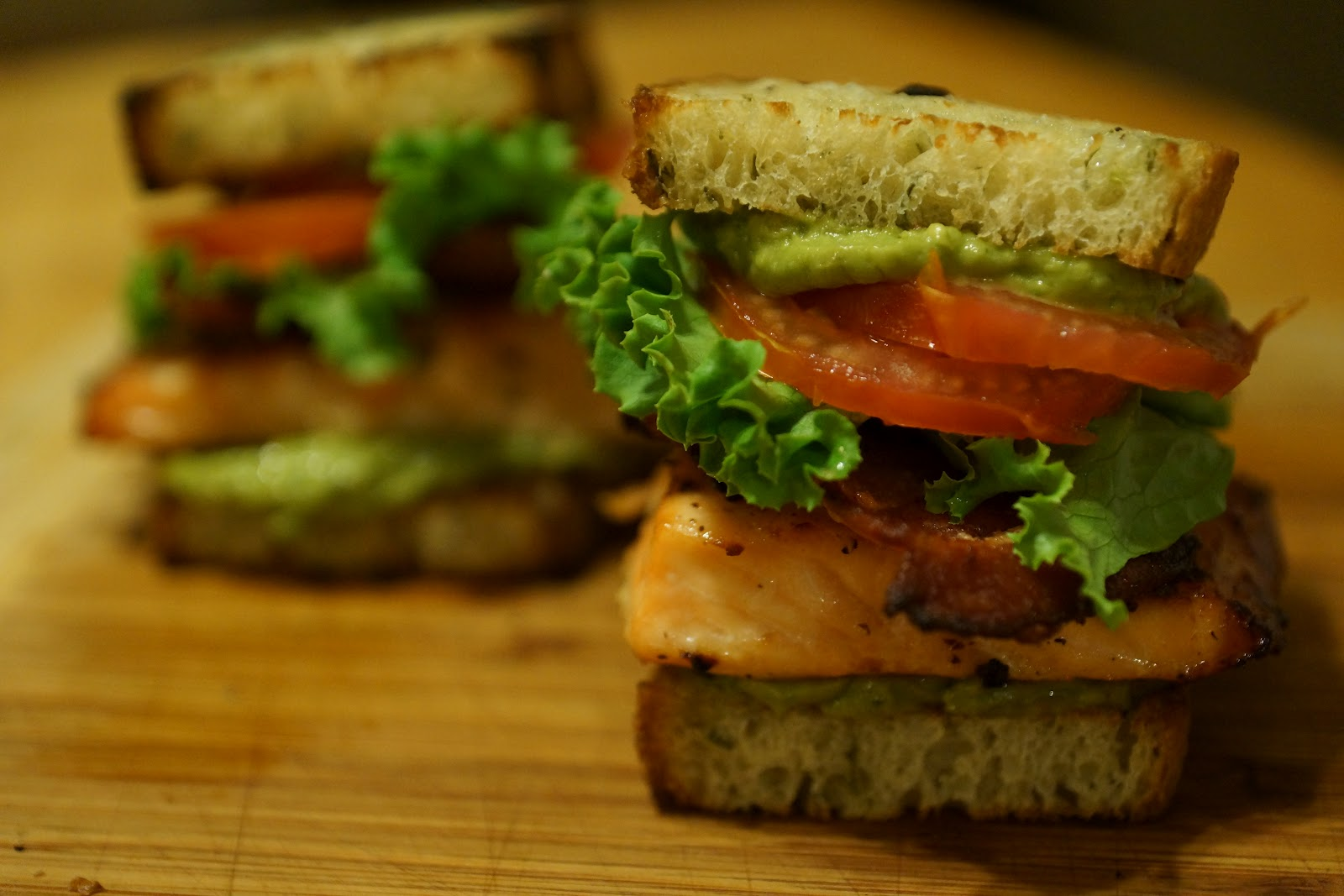 ... to Table: honey roasted salmon blt sliders with avocado basil mayo