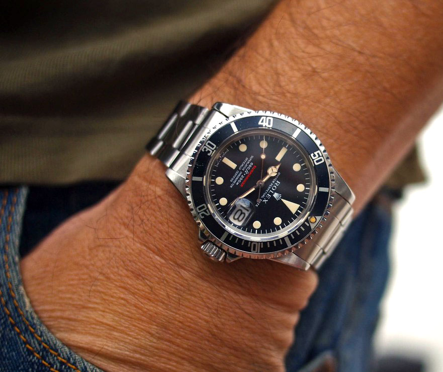 Wrist Shot Of The Day  Ralf s Single Red Rolex SubmarinerRolex Submariner Green On Wrist