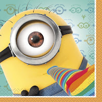 minion despicable me party napkins