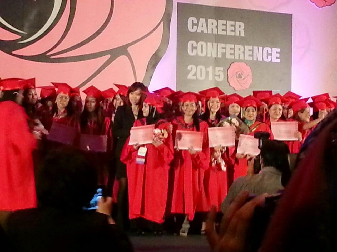 Graduate as Red Jacket University student