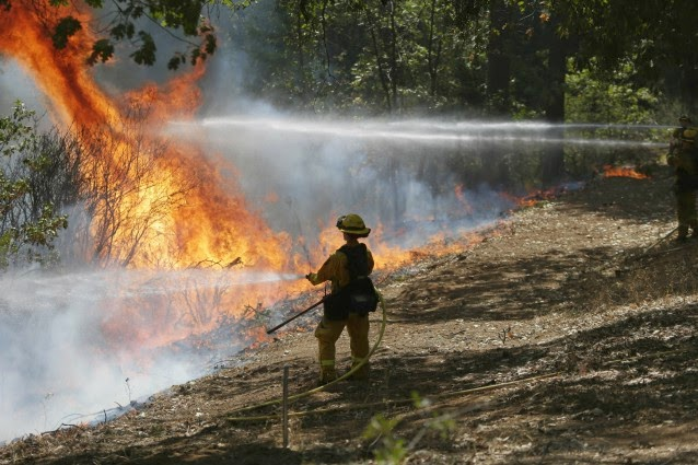 California's firefighters are bracing for a long summer. (Credit: AP Photo/Marcio Jose Sanchez) Click to Enlarge.