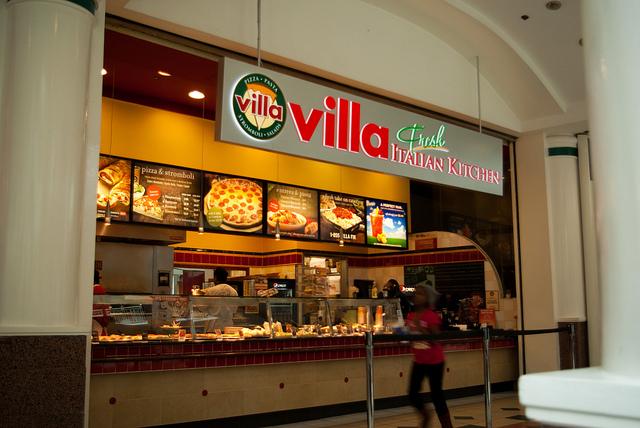 Villa Fresh Italian Kitchen Menu Nutrition