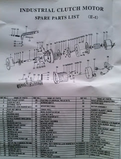 despiece motor industrial embrague maquina de coser