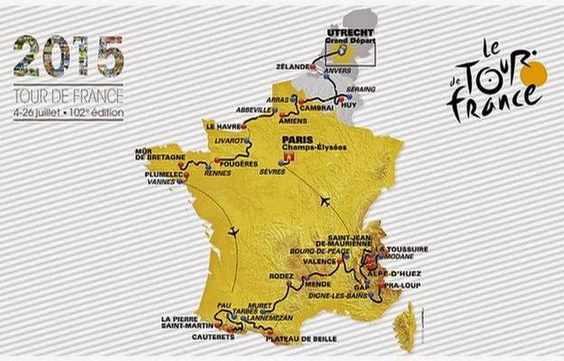 Tour De France 2015 Route Map