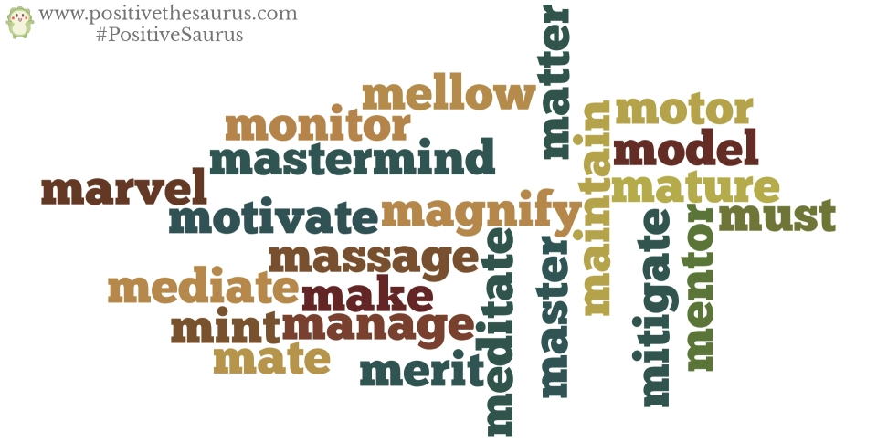 positive verbs that start with m