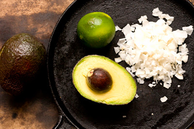 avocado-coconut ice cream mise en place
