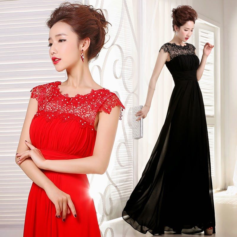 Korean Style Mermaid Silhouette Lace Evening Gowns/ Bridal Gown ...
