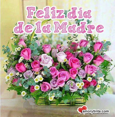 Flores rosas  para el día de la madre