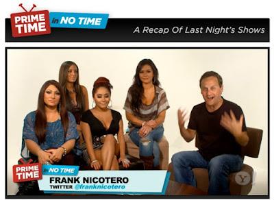 Jersey Shore Girls, Yahootv, Frank Nicotero