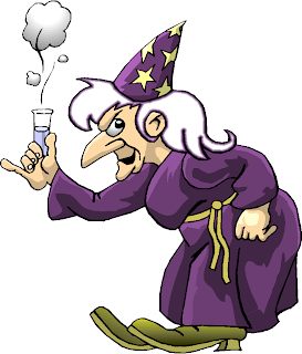 Witch Hold a Potions Free Clipart