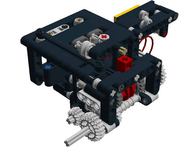 Sequential gearbox 4 speeds (MINI)