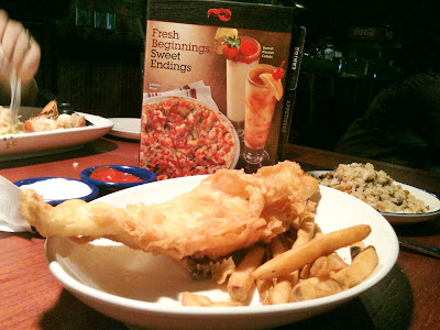 Fish and chips one british dish that 39 s easy to find in for Red lobster fish and chips