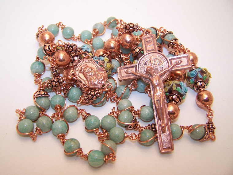 NEW! The Copper Collection! Rosary Of The Sacred Heart Of Mary