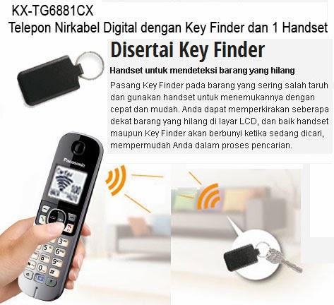 Telepon Wireless dengan Key Finder KX-TG6881