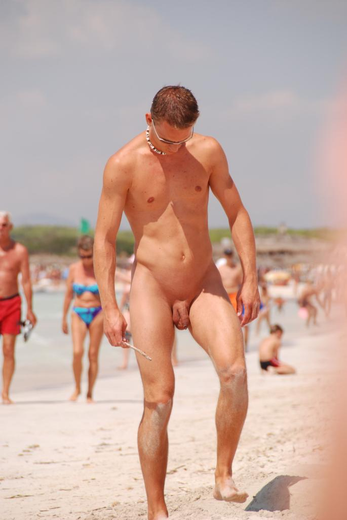 Nude Men On A Beach