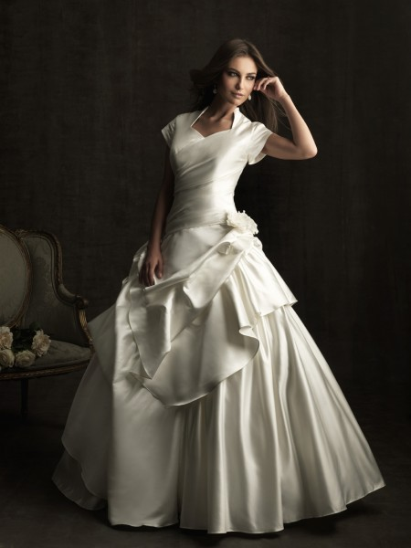 vestidos de novia baratas: Vestidos de la boda modesta