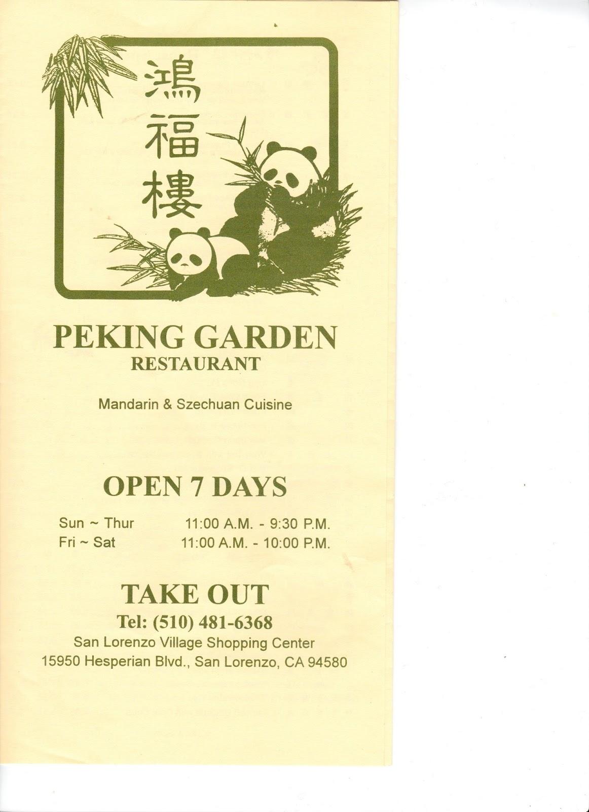 Peking Garden   San Lorenzo Menu 15950 Hesperian Blvd San Lorenzo, CA 94580
