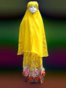 Mukena motif Bali Anak