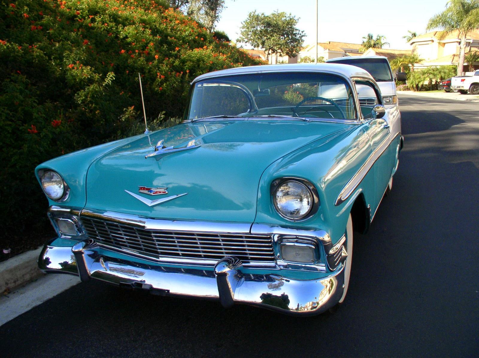 All american classic cars 1956 chevrolet bel air 2 door for 1956 chevy belair 4 door hardtop for sale