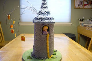 Rapunzel Birthday Cake Topper