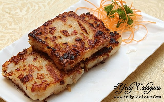 Crystal Jade Pan-fried Carrot Cake with Dried Shrimp & Preserved Meat