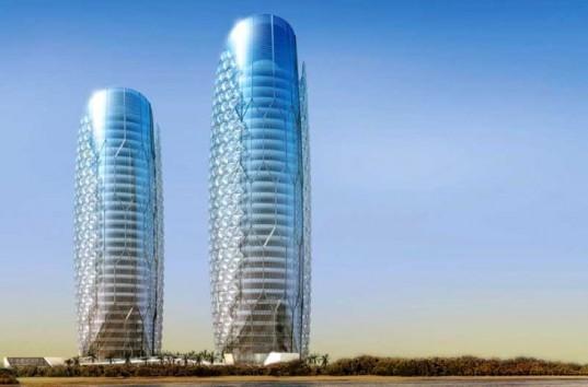 Arquitetura E Energia Torres Em Abu Dabi Sombreadas Por