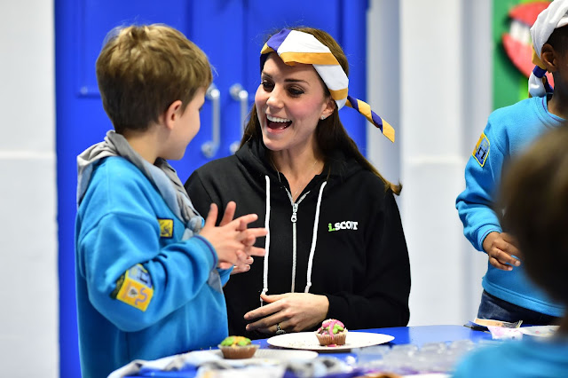 Catherine, Duchess of Cambridge visits the Beaver Scout Organization