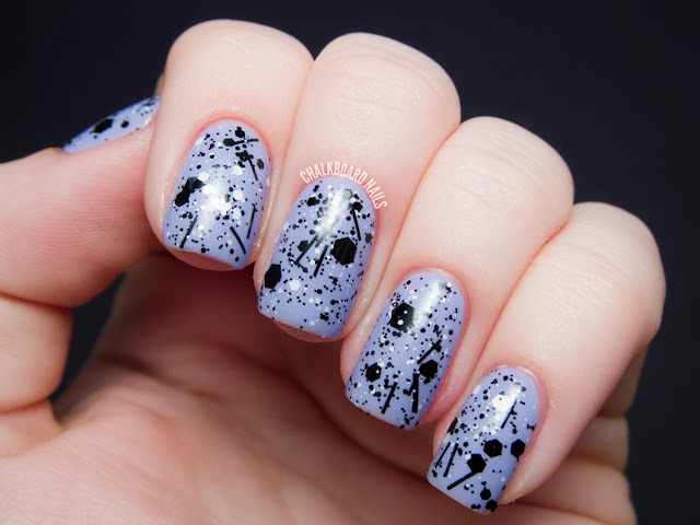 Chalkboard Nails: Hard Candy - Black Tie Optional