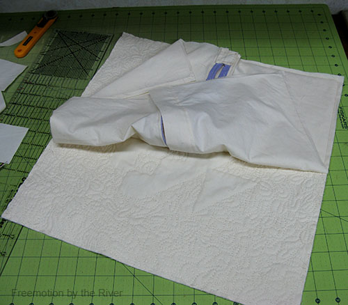 Double check before sewing your pillow together
