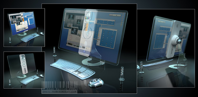 Transparent iMac Apple Concept