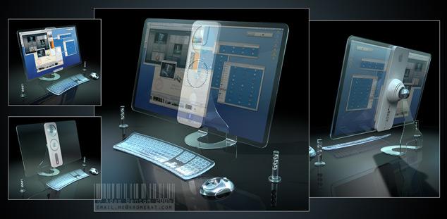 Transparent iMac Apple Concept