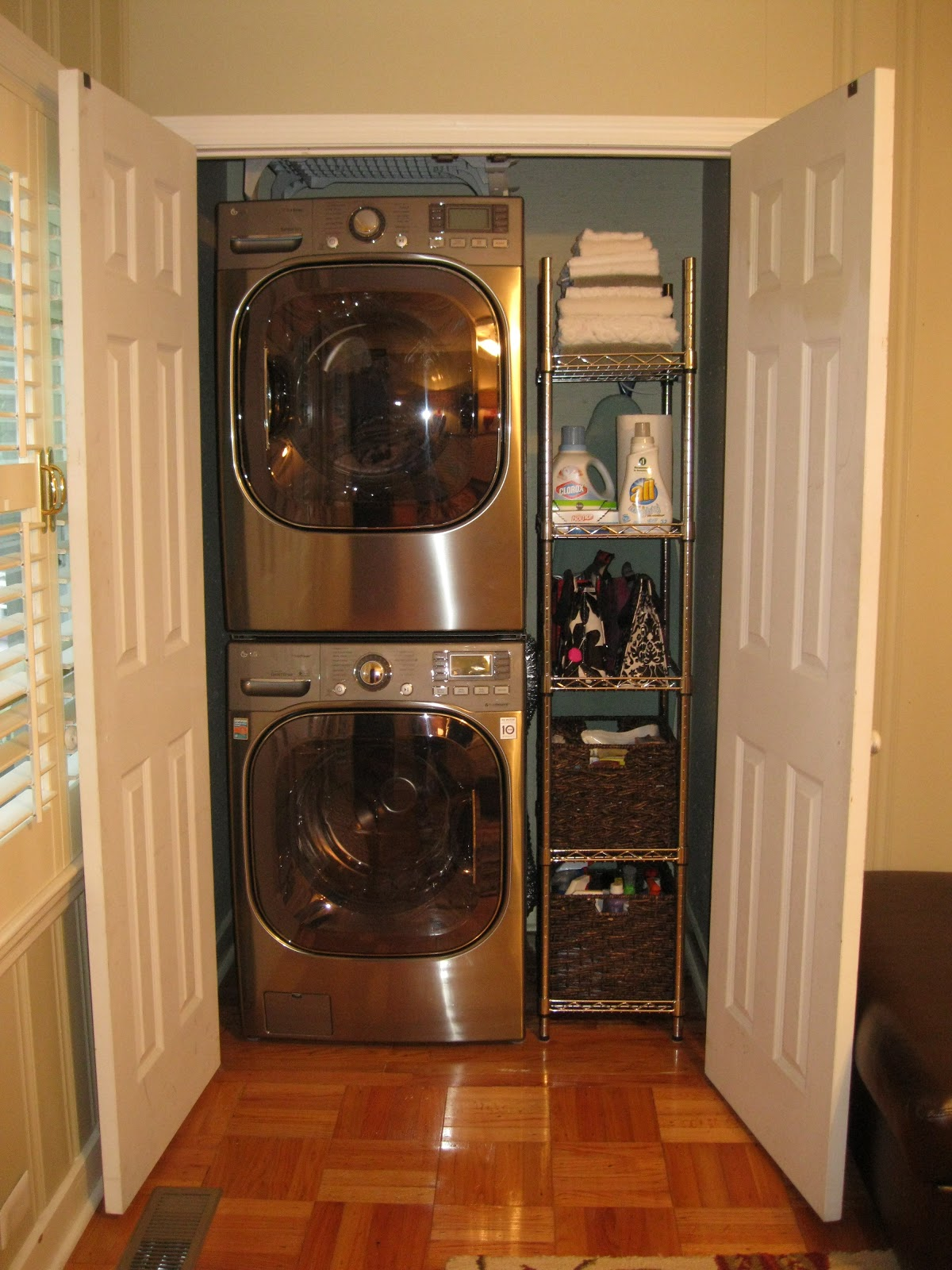 Accessorize and organize it all comes together for Tiny house stackable washer dryer
