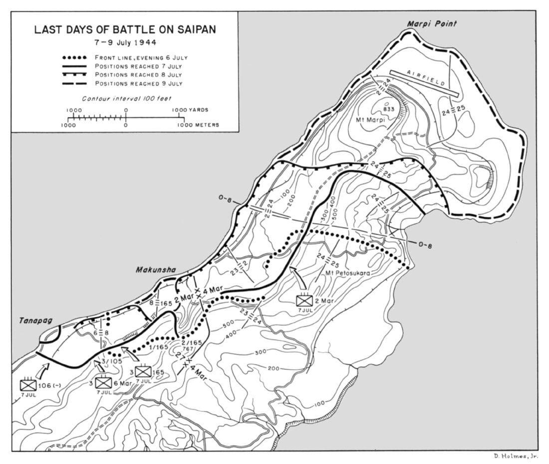 Close Quarters Fight With Systematic Removal Of The Entrenched Japanese Through Constant Mortar Shelling Grenades And Flame Throwers Into The Caves