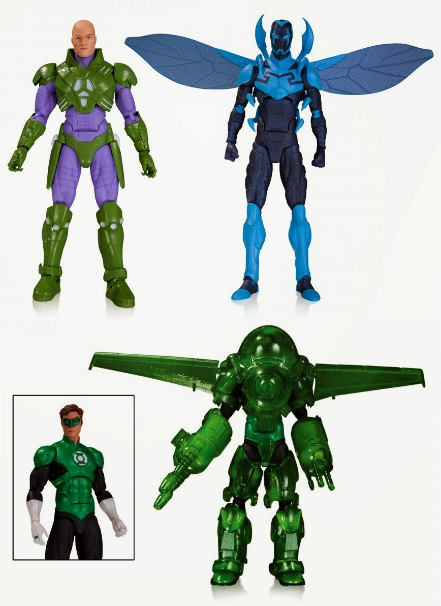 DC Comics Icons Wave 2 Action Figures - New 52 Lex Luthor, Blue Beetle Jaime Reyes & Green Lantern Hal Jordan