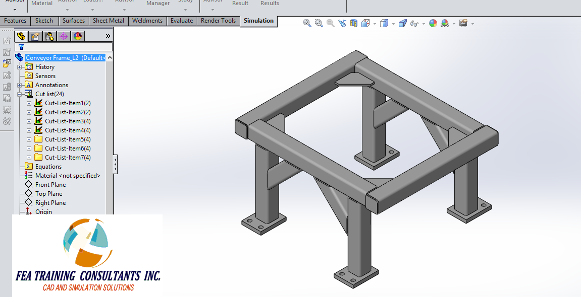 weldment cut list solidworks