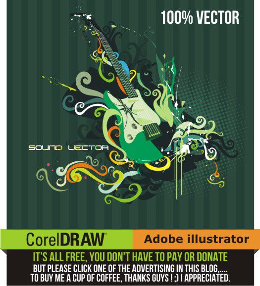 retro guitar vector corel draw tutorial and free vectors. Black Bedroom Furniture Sets. Home Design Ideas