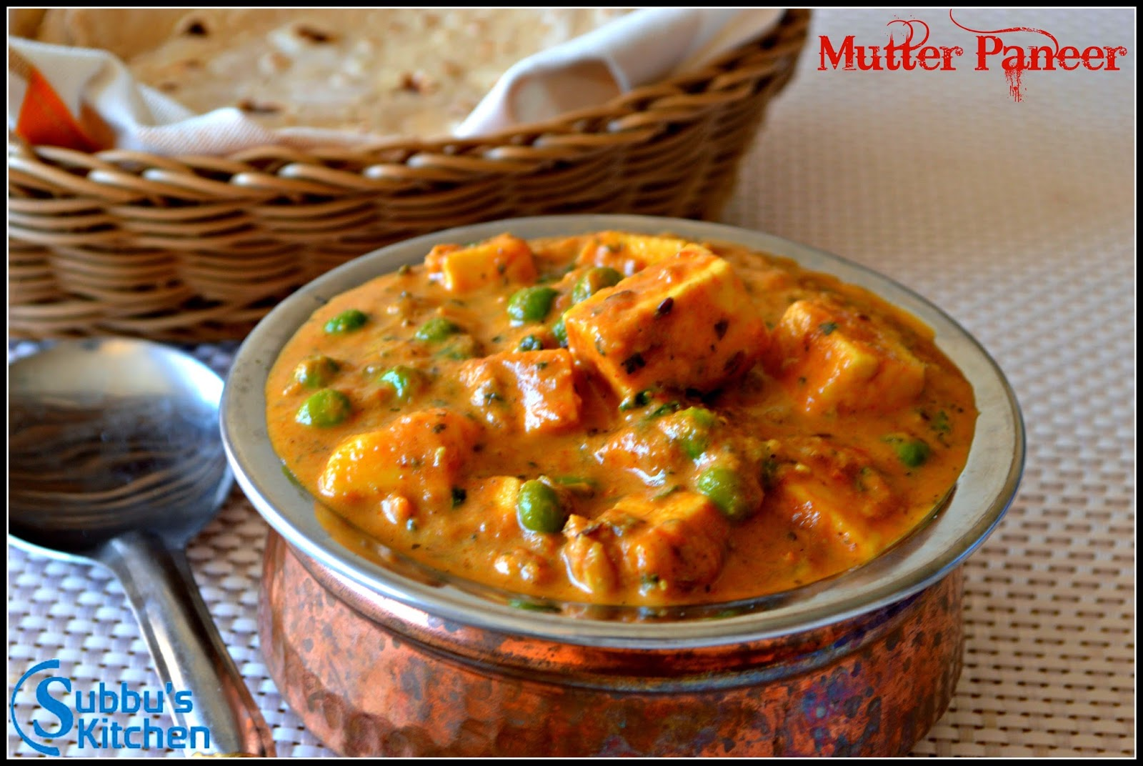 Mutter Paneer | Subbus Kitchen