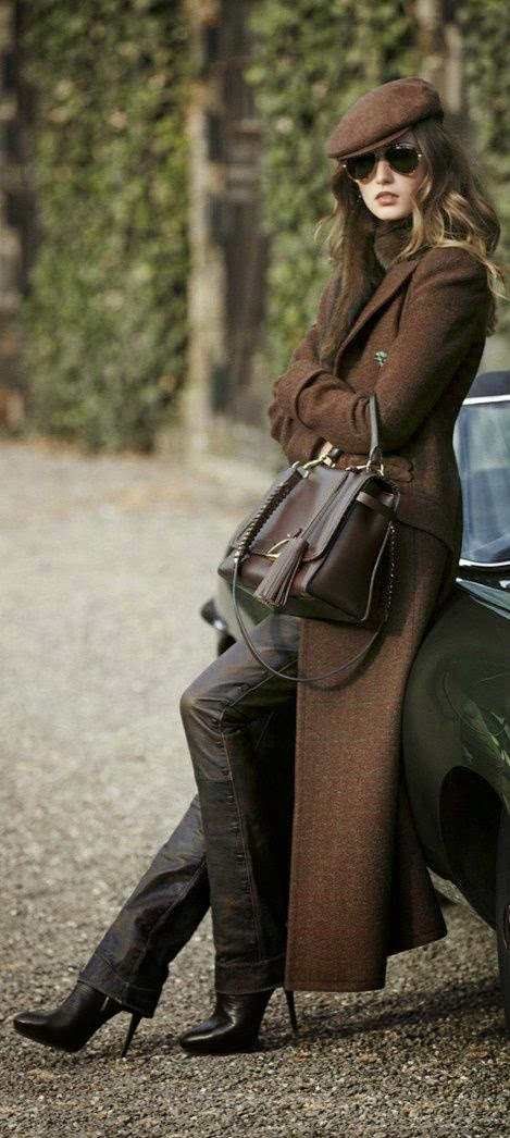 High winter Fashion for woman Brown collection