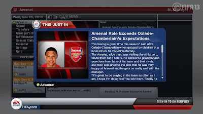 FIFA 13 Career Mode - News Update