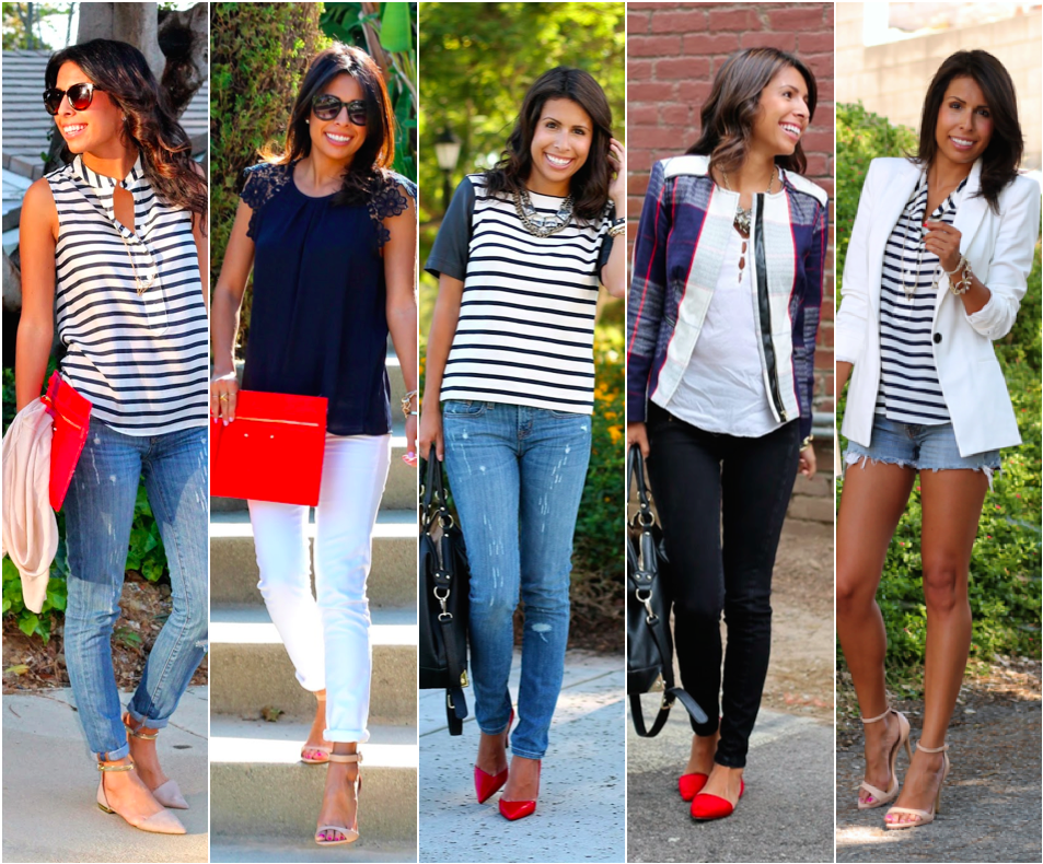 4th of July Outfits, What is Fashion, Patriotic Fashion, Denim Shorts, Striped Shirt