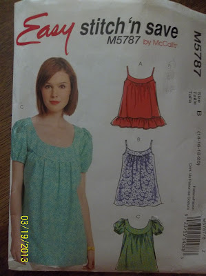 McCall's Stitch & Save 5787 Top Pattern