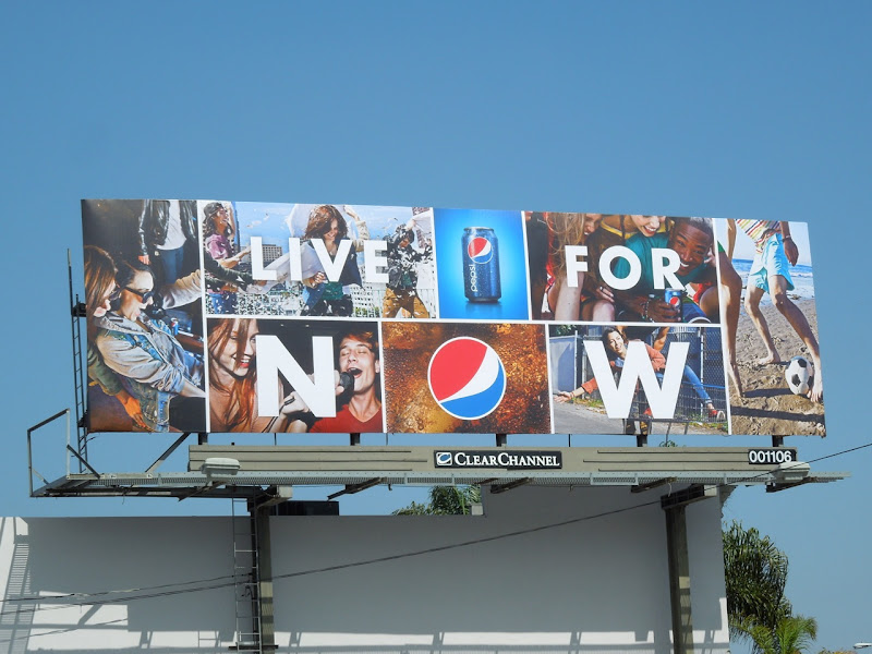 Live For Now Pepsi billboard