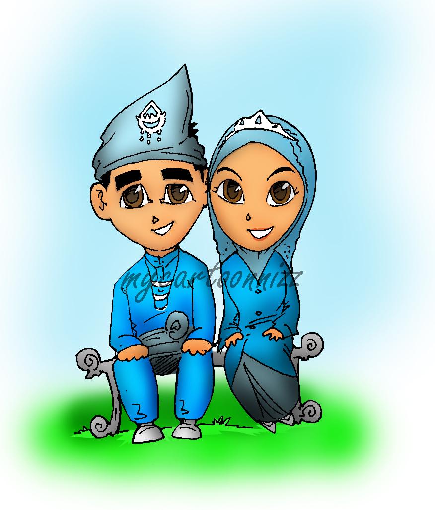 Kartun Pengantin Melayu Pictures