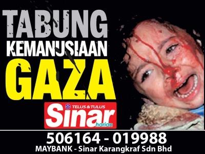 Tabung Kemanusian Gaza - Sinar Harian