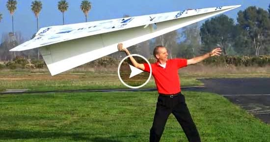 Remote Controlled Giant Rc Paper Airplane