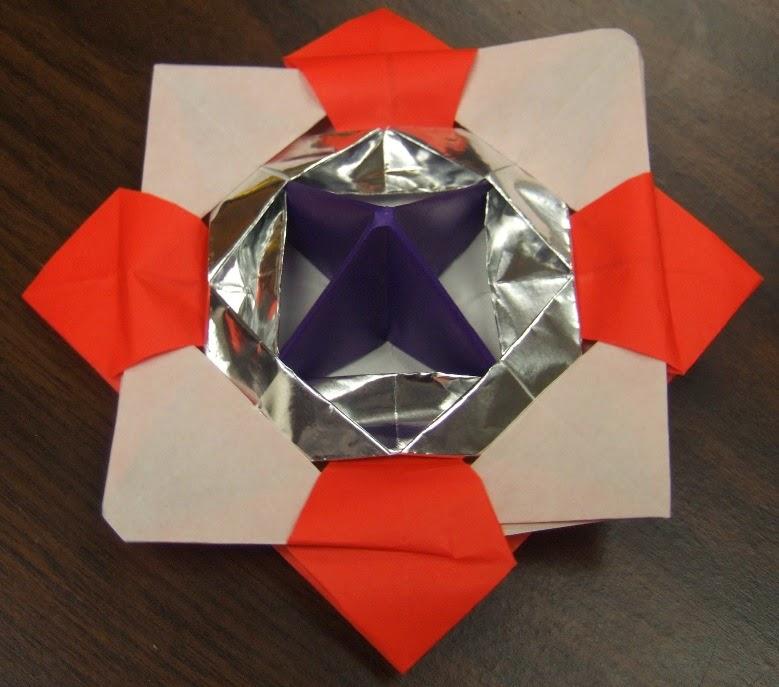 すべての折り紙 折り紙こま一枚 : ... 会婦人部: 折り紙で作るこま