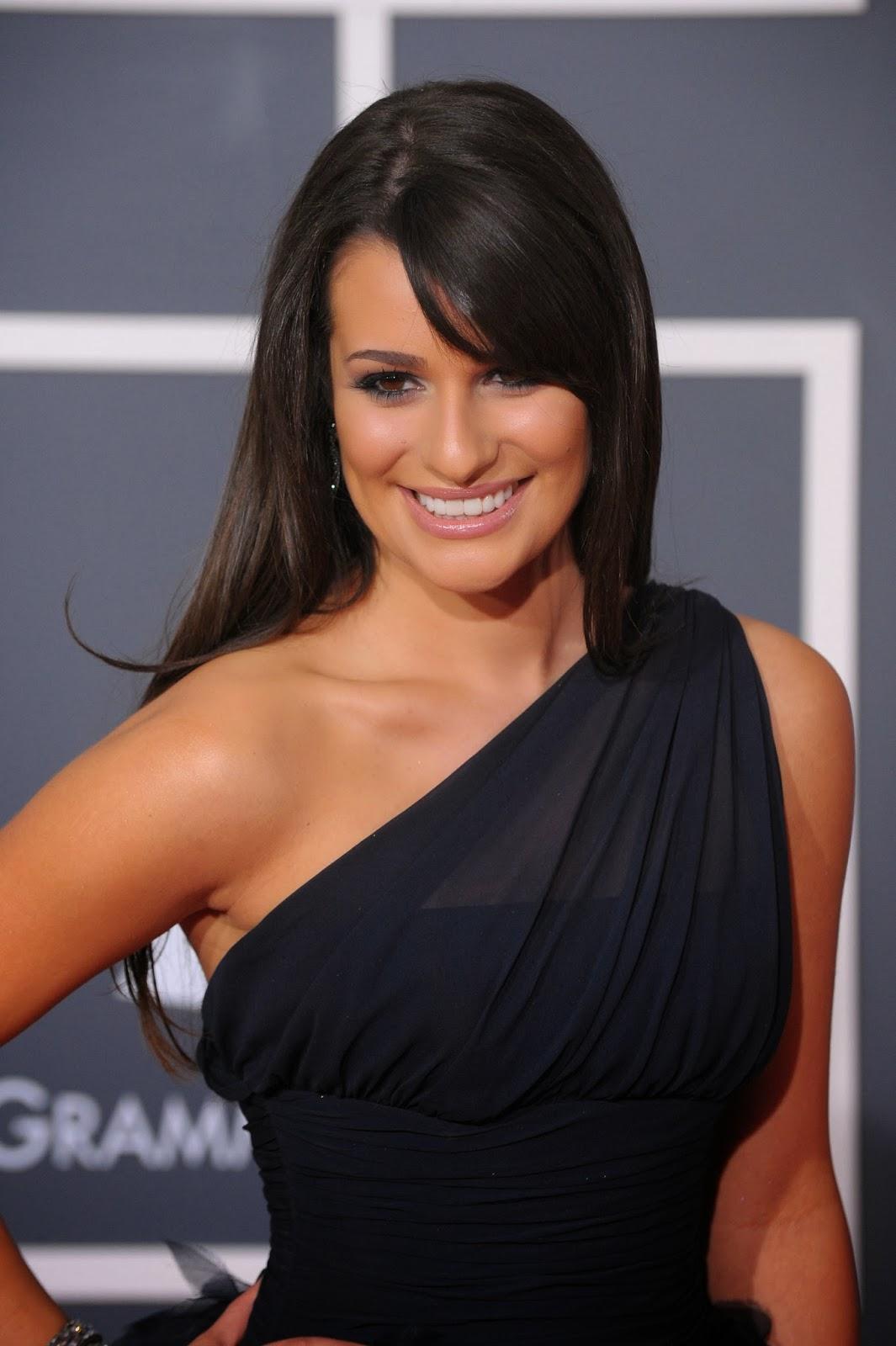 Lea Michele Straight Hair Celebrity Magazine