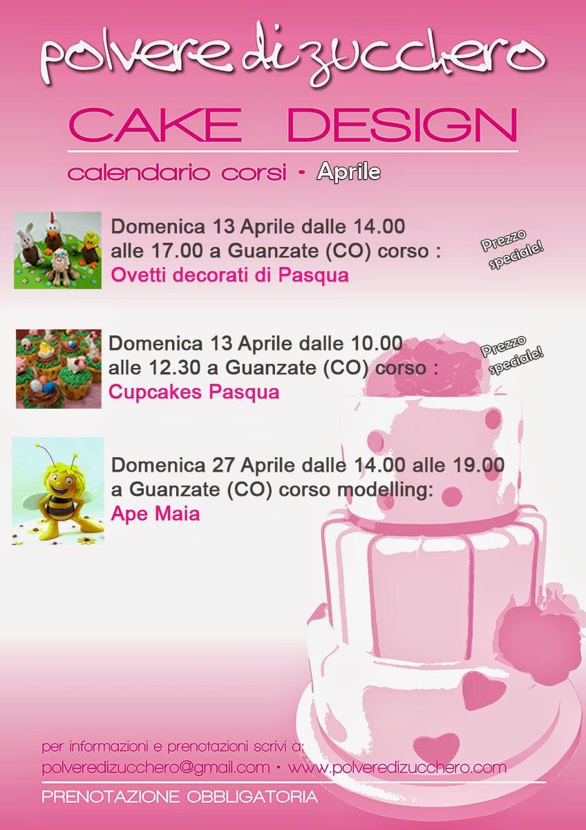 corsi di cake design aprile e maggio: torte decorate, cupcakes, biscotti e modelling