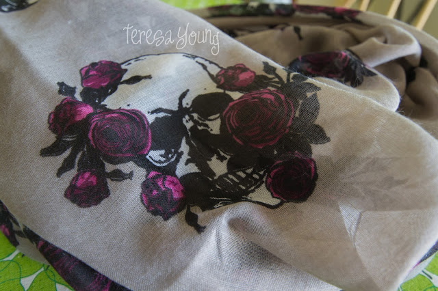 zulily infinity scarf skulls roses Leto Collection