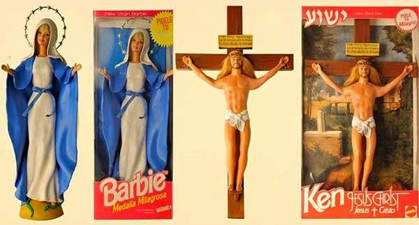 'Virgin Mary' Barbie and 'Jesus Christ' Ken